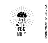 bbq party banner grill with...   Shutterstock .eps vector #540817765