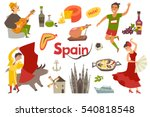 spain traditional symbols set... | Shutterstock .eps vector #540818548