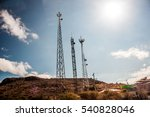 radio antennas in the middle of ...   Shutterstock . vector #540828046
