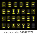 digital terminal table led font ... | Shutterstock .eps vector #540829372