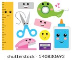 kawaii cute happy miscellaneous ... | Shutterstock .eps vector #540830692