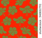 motley. vector hibiscus flower...   Shutterstock .eps vector #540832792