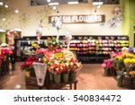 Blurred Of Floral Department I...