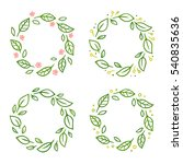 Set Of Wreaths With Green...