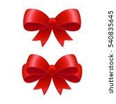 red ribbon bows vector... | Shutterstock .eps vector #540835645