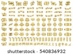 banner ribbon label gold vector ... | Shutterstock .eps vector #540836932