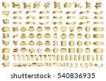 banner ribbon label gold vector ... | Shutterstock .eps vector #540836935