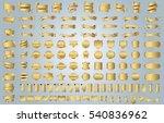 banner ribbon label gold vector ...   Shutterstock .eps vector #540836962