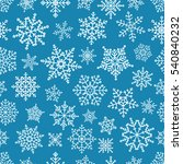 different vector snowflakes... | Shutterstock .eps vector #540840232