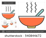 miso soup vector line icon... | Shutterstock .eps vector #540844672