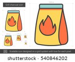 grill charcoal vector line icon ... | Shutterstock .eps vector #540846202