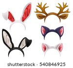 set mask cat  rabbit  deer... | Shutterstock .eps vector #540846925