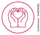 hands holding heart  ... | Shutterstock .eps vector #540848086