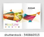 triangles and lines  annual... | Shutterstock . vector #540860515