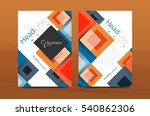 set of front and back a4 size... | Shutterstock . vector #540862306