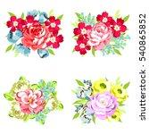 flower set | Shutterstock . vector #540865852