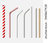 top view flat lay vector set of ... | Shutterstock .eps vector #540867928