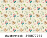 flora gift wrapping wallpaper... | Shutterstock .eps vector #540877396