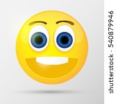 cute smiling emoticon. vector... | Shutterstock .eps vector #540879946
