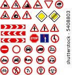 russian road signs | Shutterstock .eps vector #5408803
