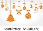 hanging christmas ornaments.... | Shutterstock .eps vector #540881572