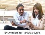 asian businessman sit relax...   Shutterstock . vector #540884296