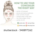 how to apply your concealer the ... | Shutterstock .eps vector #540897262