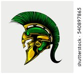 helmet of warriior logo vector. | Shutterstock .eps vector #540897865