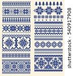 nordic pattern illustration   Shutterstock .eps vector #540917908