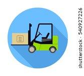 forklift icon. flat design... | Shutterstock .eps vector #540927226
