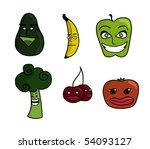 vector illustrations of cartoon ... | Shutterstock .eps vector #54093127
