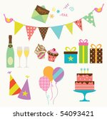 vector illustration of party... | Shutterstock .eps vector #54093421