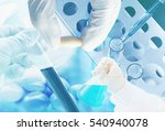 research medicine at lab  | Shutterstock . vector #540940078