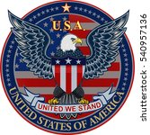 american eagle with usa flags    Shutterstock .eps vector #540957136