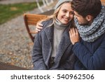 cute loving couple dating... | Shutterstock . vector #540962506