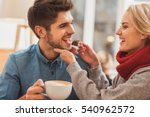 cute loving couple dating in... | Shutterstock . vector #540962572