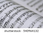 Abstract View Of Music. Book...