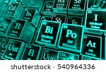 3d render abstract chemical... | Shutterstock . vector #540964336