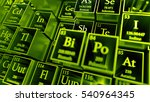 3d render abstract chemical... | Shutterstock . vector #540964345