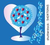 a heart  tree  love  doves ... | Shutterstock .eps vector #540970945