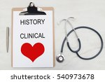 medical folder with the text of ... | Shutterstock . vector #540973678