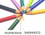 set of colorful pencils. image