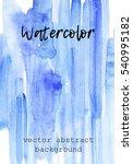 blue watercolor background.... | Shutterstock .eps vector #540995182