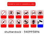 prohibited sign at public... | Shutterstock .eps vector #540995896
