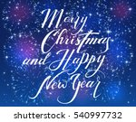 lettering merry christmas and... | Shutterstock .eps vector #540997732