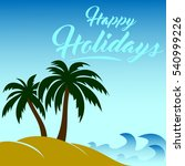 vector image happy holidays | Shutterstock .eps vector #540999226