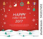 happy new year 2017 elements... | Shutterstock .eps vector #541017652