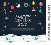 happy new year 2017 elements... | Shutterstock .eps vector #541017655