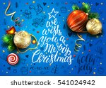 vector blue poster with... | Shutterstock .eps vector #541024942