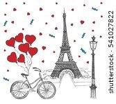 paris sketch illustration | Shutterstock .eps vector #541027822